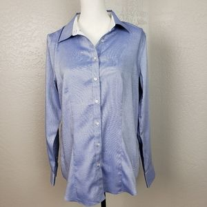 Talbots Button Up Career Shirt Size 12 NWT